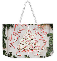 Weekender Tote Bag featuring the photograph Candy Cane Lane by Kim Hojnacki