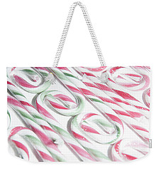 Candy Cane Swirls Weekender Tote Bag