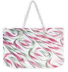 Candy Cane Swirls Weekender Tote Bag