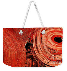 Weekender Tote Bag featuring the digital art Candy Chaos 1 Abstract by Andee Design