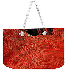 Weekender Tote Bag featuring the digital art Candy Chaos 2 Abstract by Andee Design