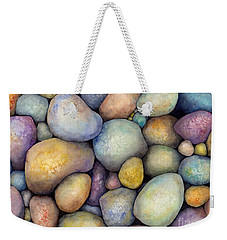 Weekender Tote Bag featuring the painting Rock Candy by Hailey E Herrera