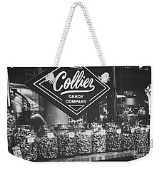 Candy Store- Ponce City Market - Black And White Weekender Tote Bag