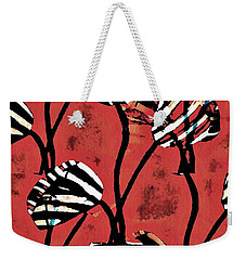 Candy Stripe Tulips 2 Weekender Tote Bag by Sarah Loft