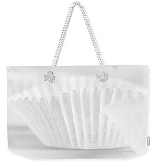 Weekender Tote Bag featuring the photograph White #2266 by Andrey  Godyaykin