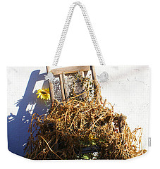 Cane Back Chair And Sunflower Weekender Tote Bag