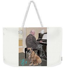 Canine Composition Weekender Tote Bag