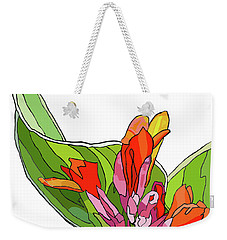 Canna Bud Weekender Tote Bag by Jamie Downs