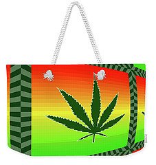 Weekender Tote Bag featuring the mixed media Cannabis  by Dan Sproul