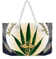 Cannabis Medicinal Plant Weekender Tote Bag
