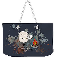 Weekender Tote Bag featuring the photograph Cannibalism Is Sweet Illustrated by Heather Applegate