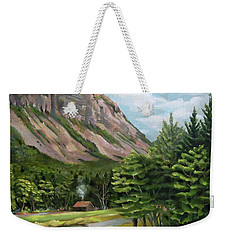 Cannon Cliff New Hampshire Weekender Tote Bag