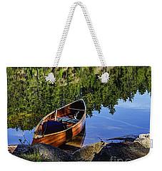 Canoe At Slim Lake Weekender Tote Bag