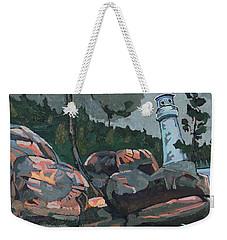 Canoe Lake Light Weekender Tote Bag