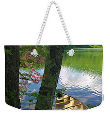 Canoe On Pond, Catskills Weekender Tote Bag