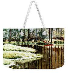 Canoe On Pond Weekender Tote Bag