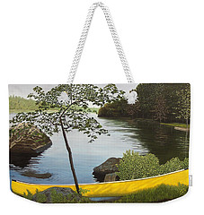 Canoe On The Bay Weekender Tote Bag