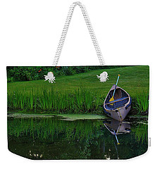 Canoe Reflection Weekender Tote Bag
