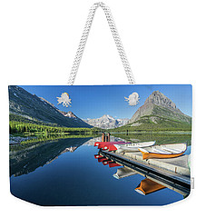 Canoe Reflections Weekender Tote Bag by Alpha Wanderlust
