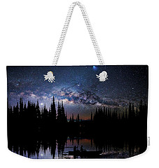 Canoeing - Milky Way - Night Scene Weekender Tote Bag