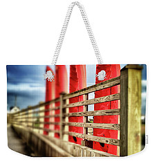 Canoes And Walkway, Surf City, North Carolina Weekender Tote Bag