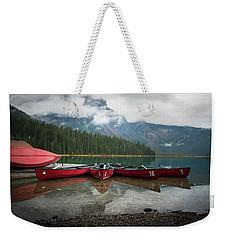 Canoes At Emerald Lake Weekender Tote Bag