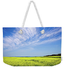Canola Blue Weekender Tote Bag by Keith Armstrong