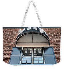 Weekender Tote Bag featuring the photograph Canopy And Reflection In Window by Gary Slawsky