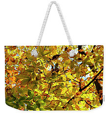 Weekender Tote Bag featuring the photograph Canopy Of Autumn Leaves  by Angie Tirado