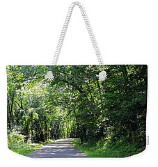 Weekender Tote Bag featuring the photograph Canopy Of Trees by Angela Murdock