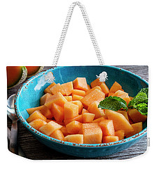 Cantaloupe For Breakfast Weekender Tote Bag