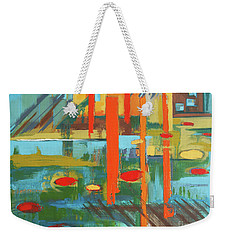 Weekender Tote Bag featuring the painting Cantaloupe Island by Erin Fickert-Rowland