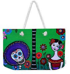 Weekender Tote Bag featuring the painting Serenata Especial Para Axl by Pristine Cartera Turkus