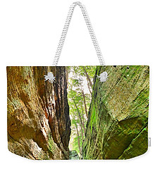Weekender Tote Bag featuring the photograph Cantwell Cliffs Trail Hocking Hills Ohio by Lisa Wooten