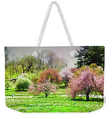 Weekender Tote Bag featuring the photograph Garden Canvas  by Diana Angstadt