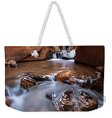 Weekender Tote Bag featuring the photograph Canyon Creek by Dustin LeFevre