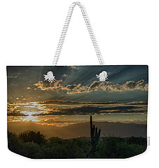 Weekender Tote Bag featuring the photograph Canyon Ranch Dawn by Dan McManus