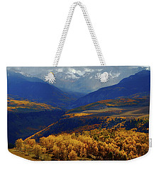 Canyon Shadows And Light From Last Dollar Road In Colorado During Autumn Weekender Tote Bag