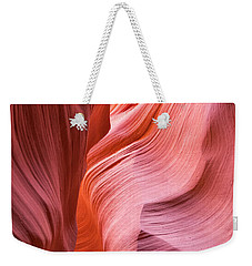 Weekender Tote Bag featuring the photograph Canyon Swirls by Patricia Davidson