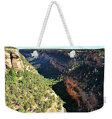 Weekender Tote Bag featuring the photograph Canyon View From Cliff Palace by Debby Pueschel