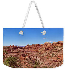 Weekender Tote Bag featuring the photograph Canyonlands National Park - Big Spring Canyon Overlook by Brenda Jacobs