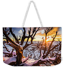 Canyonlands Winter Sunset Weekender Tote Bag