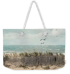 Cape Cod Beach Scene Weekender Tote Bag by Juli Scalzi