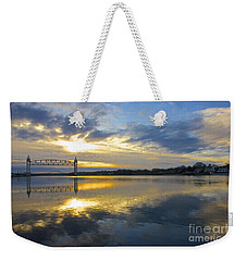 Cape Cod Canal Sunrise Weekender Tote Bag by Amazing Jules