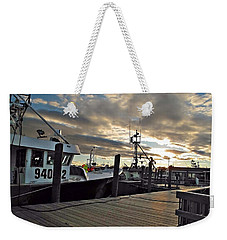 Weekender Tote Bag featuring the photograph Cape Cod Harbor by Joan  Minchak