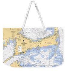 Cape Cod, Martha's Vineyard And Nantucket Nautical Chart Weekender Tote Bag