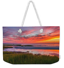Cape Cod Skaket Beach Sunset Weekender Tote Bag