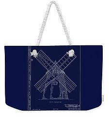 Historic Cape Cod Windmill Blueprint Weekender Tote Bag by John Stephens