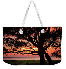 Weekender Tote Bag featuring the photograph Cape Fear Sunset Overlook by Phil Mancuso