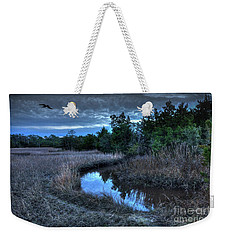Weekender Tote Bag featuring the photograph Cape Fear Tide Pool by Phil Mancuso